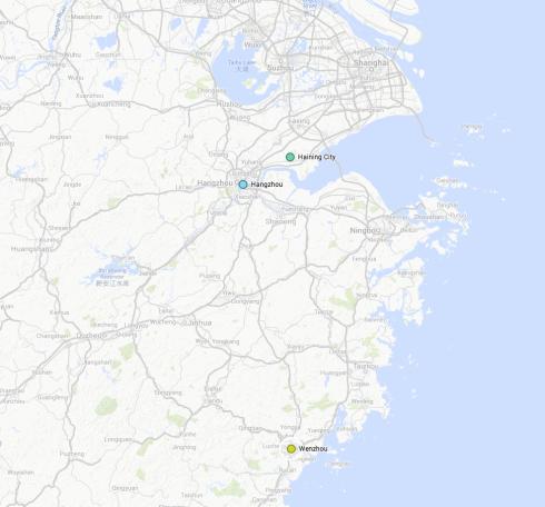 Post Tour 1 +2 Map