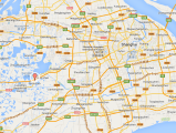 Map of Jinze town. Distance from Shanghai is one hour by car.