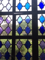 Blue glass windows. Photo courtesy of Amy Putansu.