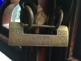 Chinese lock. Photo courtesy of Amy Putansu.