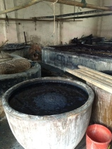 Indigo vats. Photo courtesy of Amy Putansu.