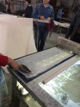 Printing process. Photo courtesy of Amy Putansu.