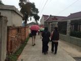 Walking through community in Nantong. Photo courtesy of Amy Putansu.